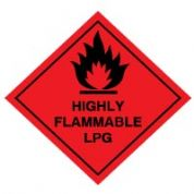 Hazard safety sign - Highly Flammable LPG 042